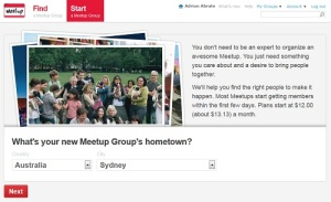 Starting a Meetup Group